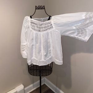 Anthropologie lace insert top